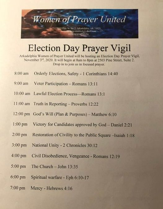 Arkadelphia Election Day Prayer Vigil