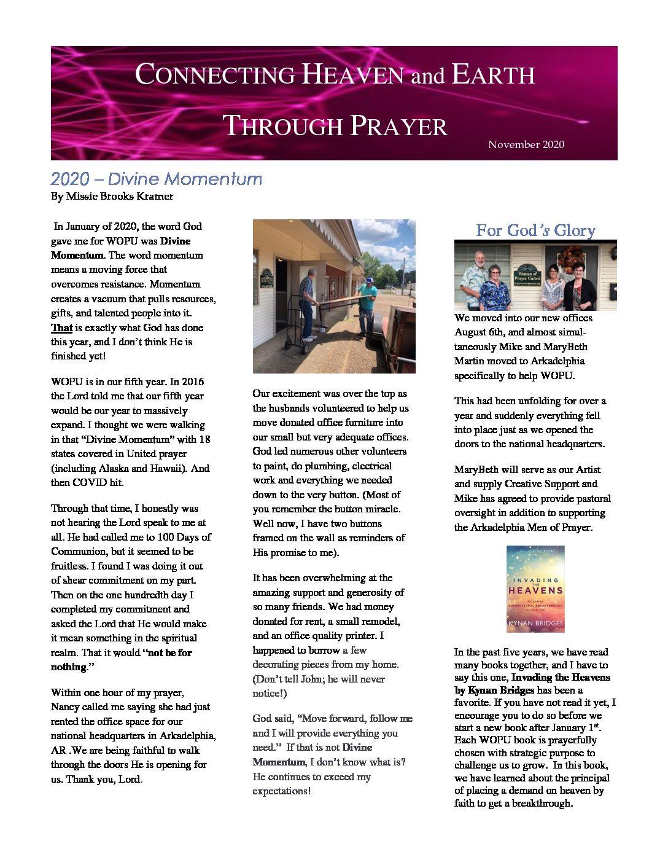 November 2020 Newsletter Pg 1