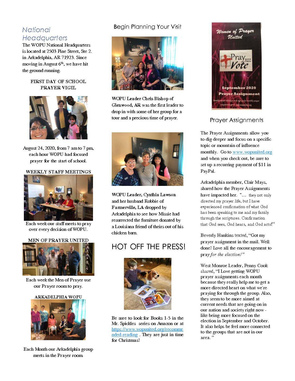 November 2020 Newsletter Pg 2