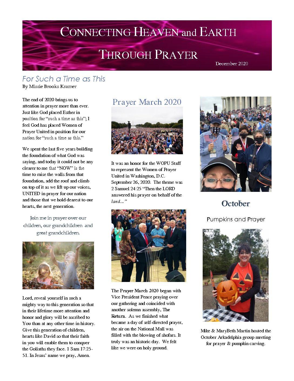 December 2020 Newsletter Pg 1