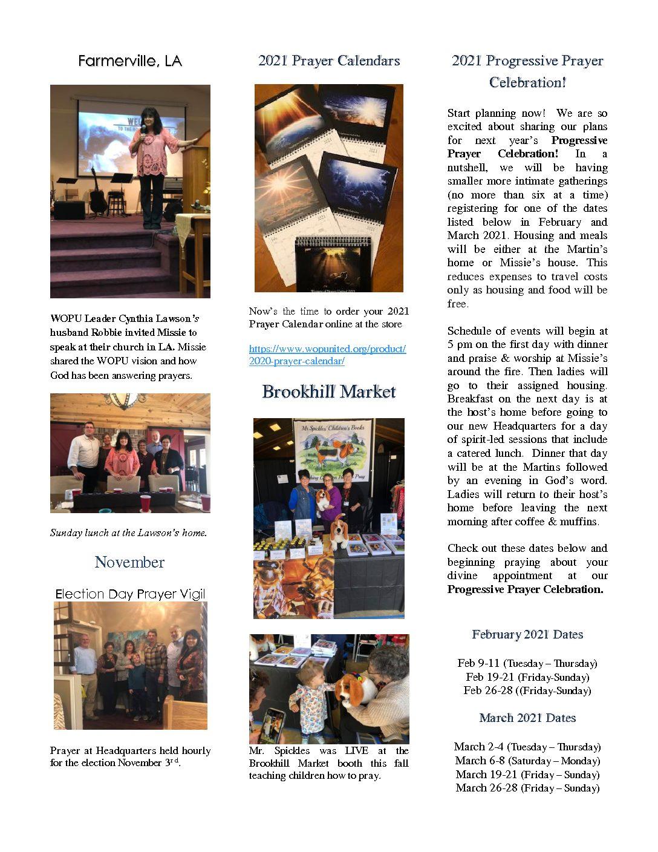 December 2020 Newsletter Pg 2