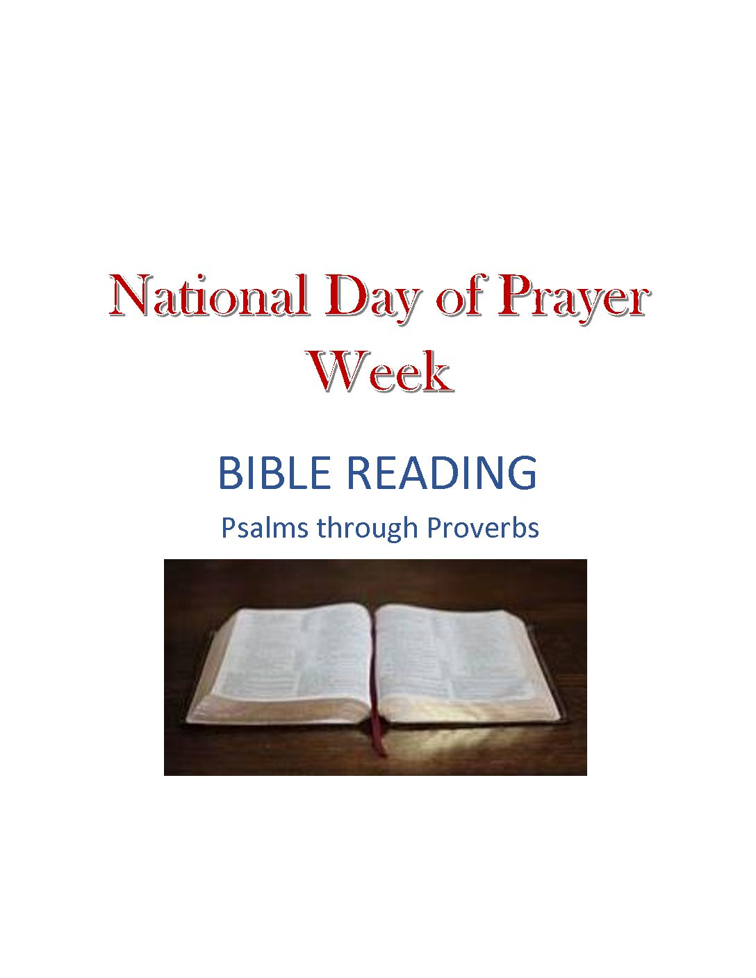 National Day of Prayer Public Bible Reading 2021
